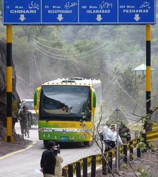 Karvan-e-Aman Bus distant