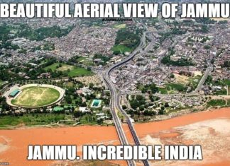 Beautiful Jammu incredible aerial view