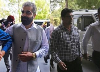 Kashmiri separatist leader Nayeem Khan, left, and Bitta Karate, right.