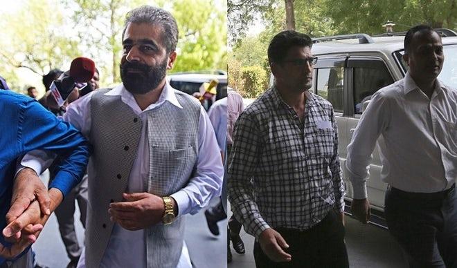 Kashmiri separatist leader Nayeem Khan, left, and Bitta Karate, right.