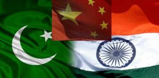 India china Pakistan flag