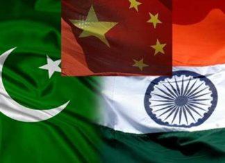 India china Pakistan flag