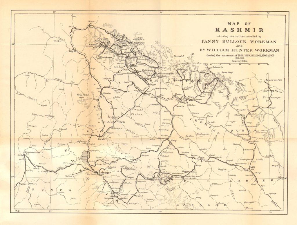 Old map of jammu kashmir