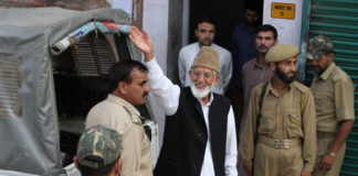 security hurriyat leader