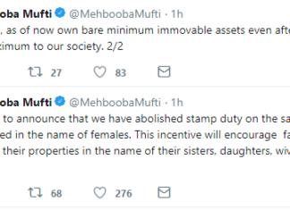 Tweet women Jammu Kashmir Empower Mufti