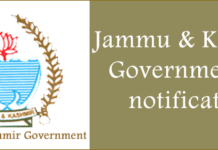 Government job jammu kashmir