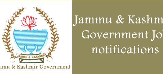 Government job jammu kashmir