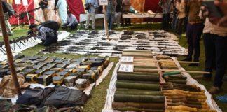 huge arms and ammunition kashmir