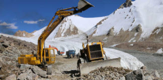 Construction work in full swing under 'Project Himank' in the Ladakh region