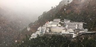 Snow fall at mata vaishno devi