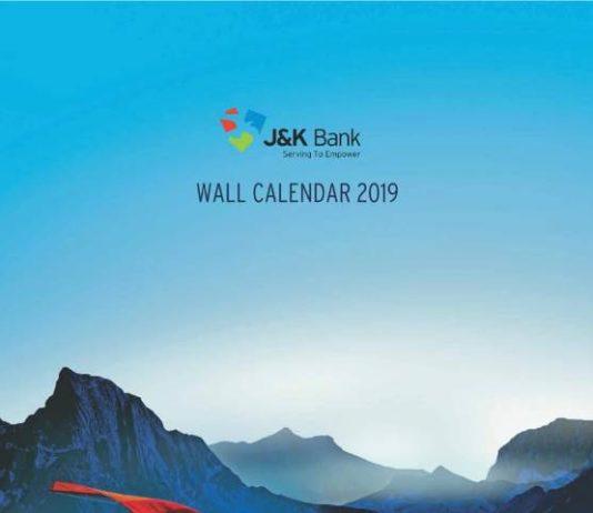 JK BANK CALENDAR 2019